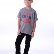 image of Diesel Kids Graphic Round Neck Tee - Grey
