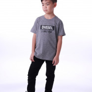 image of Diesel Kids Graphic Round Neck Tee - Grey