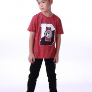 image of Diesel Kids Graphic Round Neck Tee - Maroon