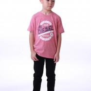 image of Diesel Kids Graphic Round Neck Tee - Pink