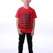 image of Diesel Kids Graphic Round Neck Tee - Red