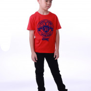 image of Diesel Kids Graphic Round Neck Tee - Red