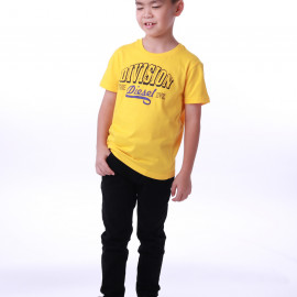 image of Diesel Kids Graphic Round Neck Tee - Yellow