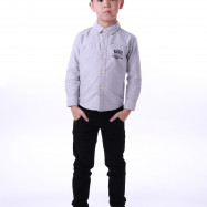 image of Diesel Kids Graphic Woven Shirt Long Sleeve - Grey