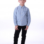 image of  Diesel Kids Stripe Woven Shirt Long Sleeve - Blue White (Fine Stripes)