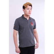 image of Diesel Men Embroidery Polo Tee - Grey