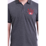 Diesel Men Embroidery Polo Tee - Grey