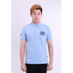 Diesel Men Embroidery Polo Tee - Light Blue