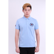 image of Diesel Men Embroidery Polo Tee - Light Blue