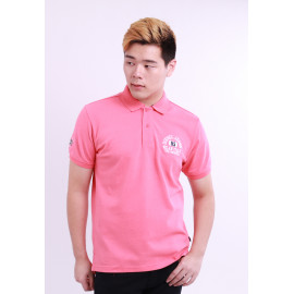 image of Diesel Men Embroidery Polo Tee - Pink