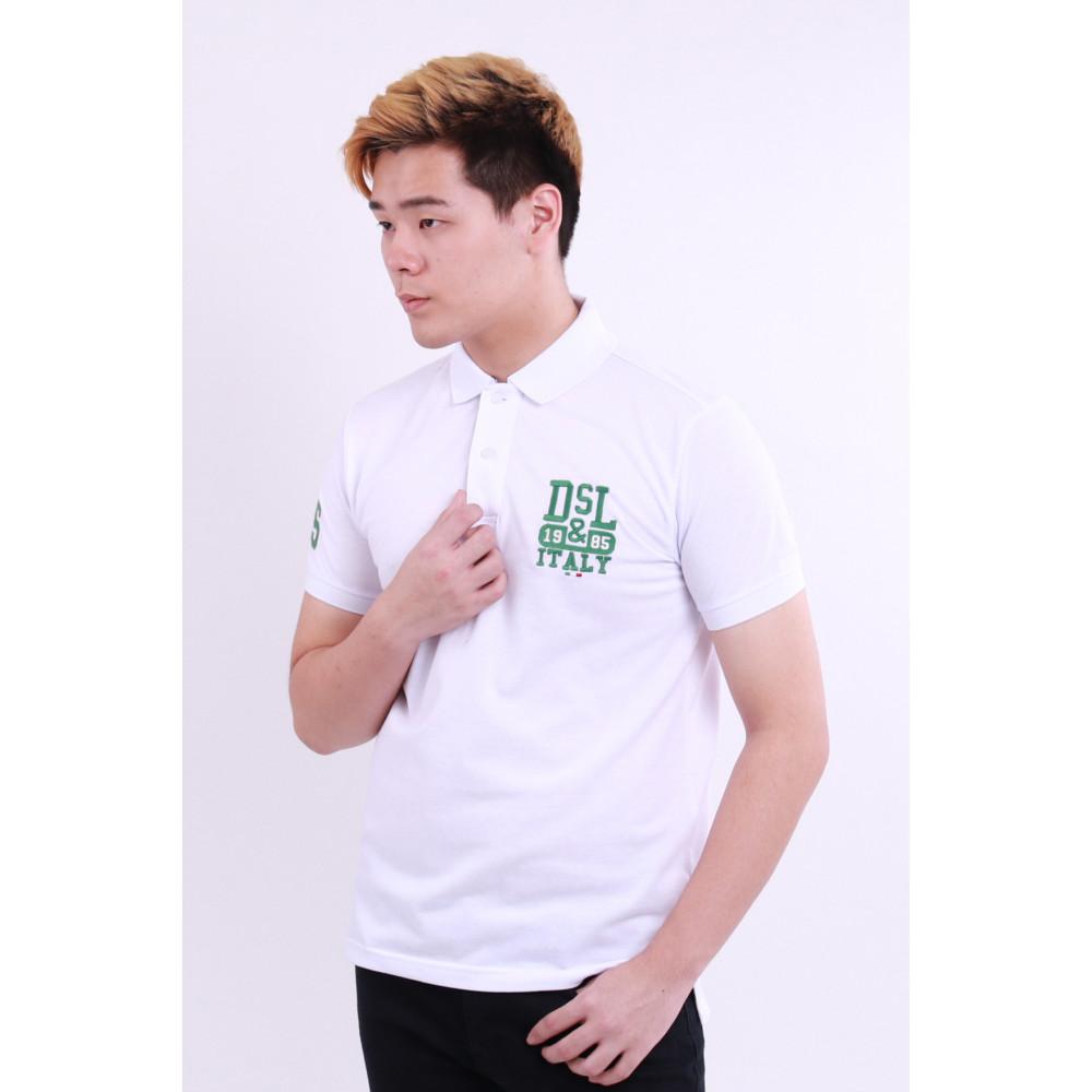 Diesel Men Embroidery Polo Tee - White