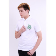 image of Diesel Men Embroidery Polo Tee - White