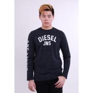 image of Diesel Men Graphic Round Neck Tee - Dark Grey