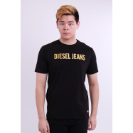 image of Diesel Men Graphics Round Neck Tee Short Sleeve - Black