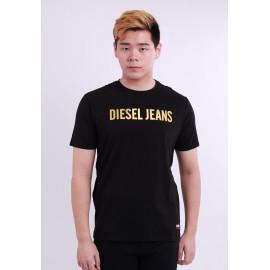 image of Diesel Men Graphics Round Neck Tee Short Sleeve - Black
