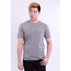 image of Diesel Men Graphics Round Neck Tee Short Sleeve - Grey