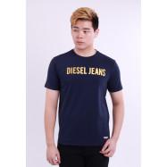 image of Diesel Men Graphics Round Neck Tee Short Sleeve - Navy