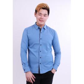 image of Diesel Men Woven Shirt Long Sleeve - Blue