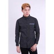 image of Diesel Men Woven Shirt Long Sleeve - Dark Grey