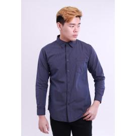 image of Diesel Men Woven Shirt Long Sleeve - Navy