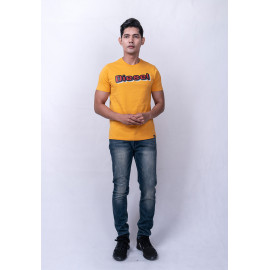 image of Diesel Men Graphic Tee S/S - Mustard