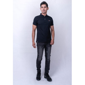 image of Diesel Men Logo Polo S/S - Black