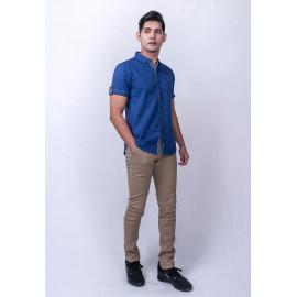 image of Diesel Men Printed Shirt S/S - Blue