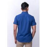 Diesel Men Printed Shirt S/S - Blue