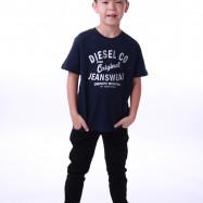 image of Diesel Kids Graphic Round Neck Tee - Navy