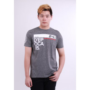 image of Diesel Men Graphic Round Neck Tee - Grey
