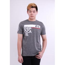 image of Diesel Men Graphic Round Neck Tee - Grey