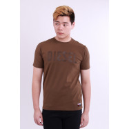 image of Diesel Men Graphics Round Neck Tee Short Sleeve - Brown