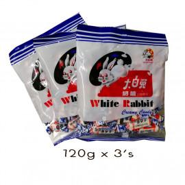 image of White Rabbit Milk Candy 120g X 3