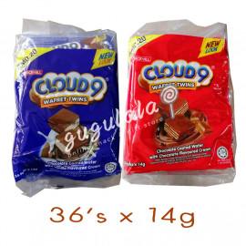 image of Cloud 9 Wafret Twins Vanilla/Chocolate 36'S X 14g