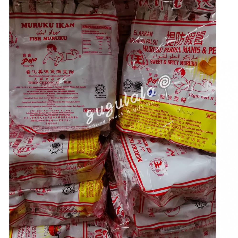 Popo Muruku Ikan Original/Sweet & Spicy 30'S X 12g
