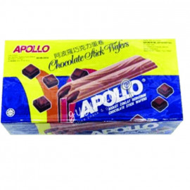 image of Apollo Chocolate Stick Wafers H1044 30'S X 11g