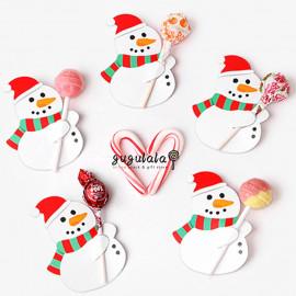 image of 10 Pcs Santa Claus Xmas Lollipop Holder / Card