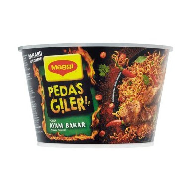 image of Maggi Pedas Giler Ayam Bakar / Tom Yummz Instant Noodle 97g
