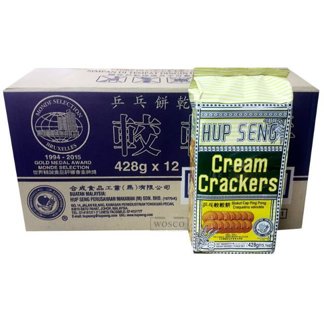 Hup Seng Cream Crackers 428g X 12 (1ctn)
