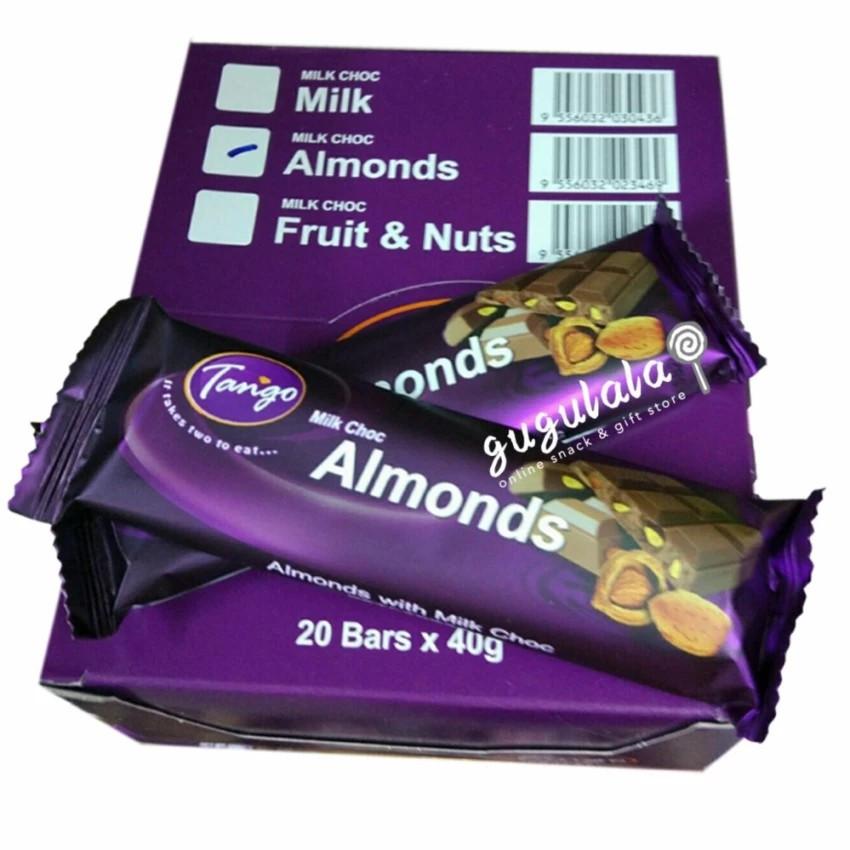 image of Tango Milk Choc Almonds 20'S X 40g