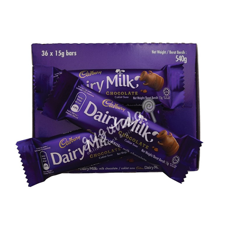 image of Cadbury Dairy Milk Chocolate 36'S X 15g