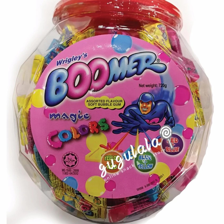 image of Wrigley's Boomer Soft Bubble Gum 150'S