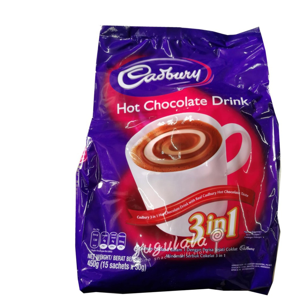 image of Cadbury Hot Chocolate Drink 3in1 15'S X 30g