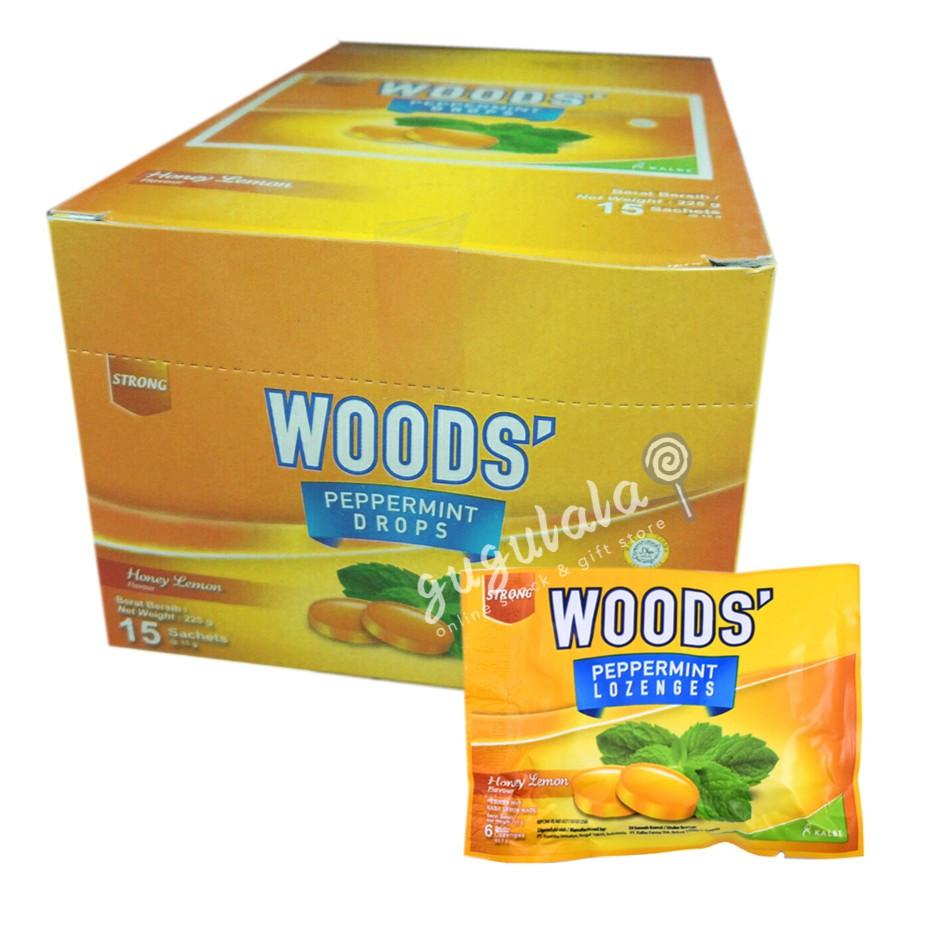 image of Woods' Honey Lemon 15'S X 15g