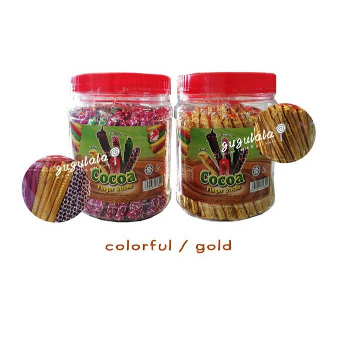 Cocoa Finger Sticks (Gold/Color) 550g