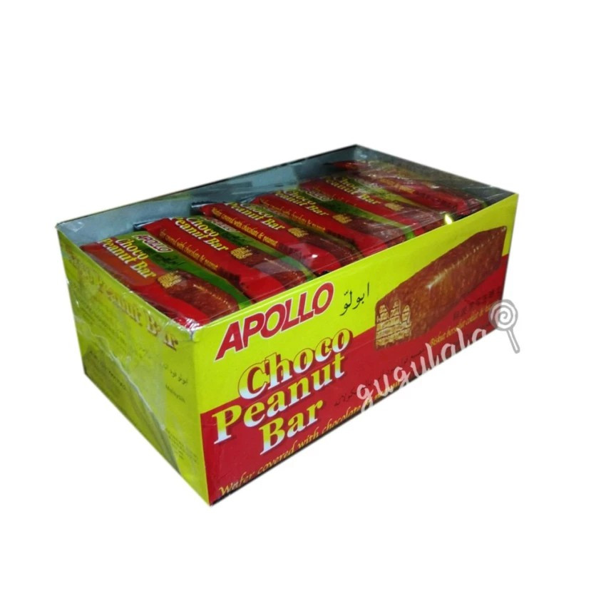 image of Apollo Choco Peanut Bar A1303ML 36'S X 17g