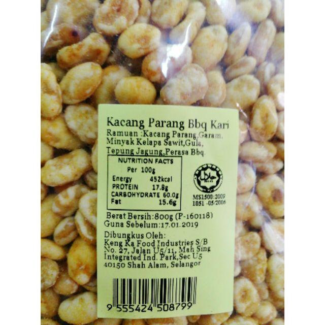 image of Kacang Parang Bbq Kari 800g