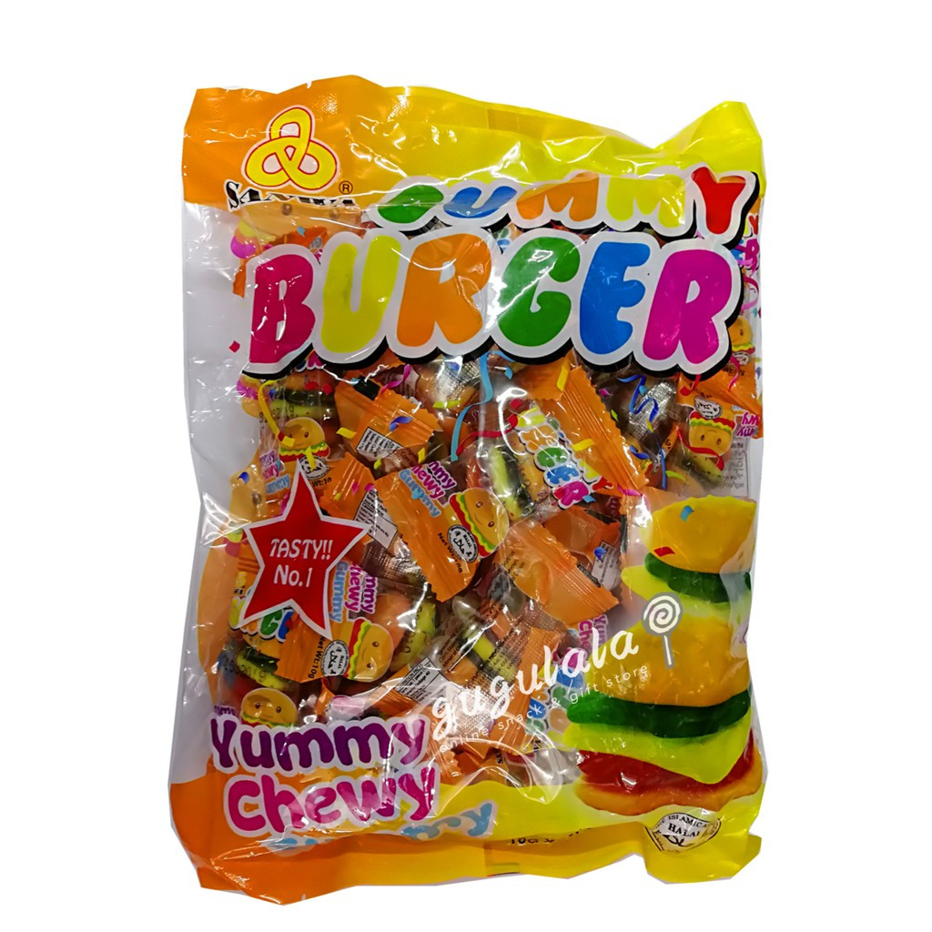 image of Gummy Burger Candy 40'S X 10g