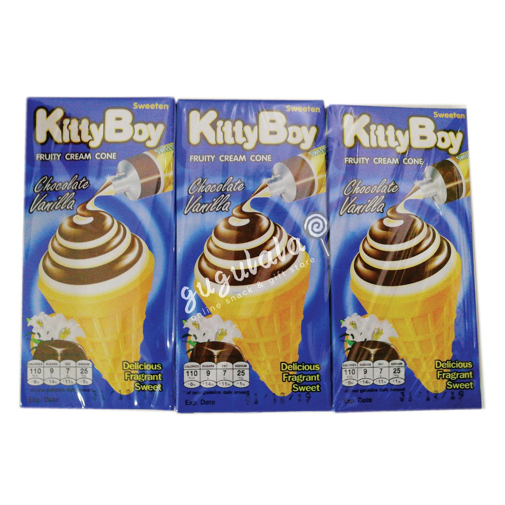 image of KittyBoy Chocolate Vanilla Cream Cone 12'S X 20g