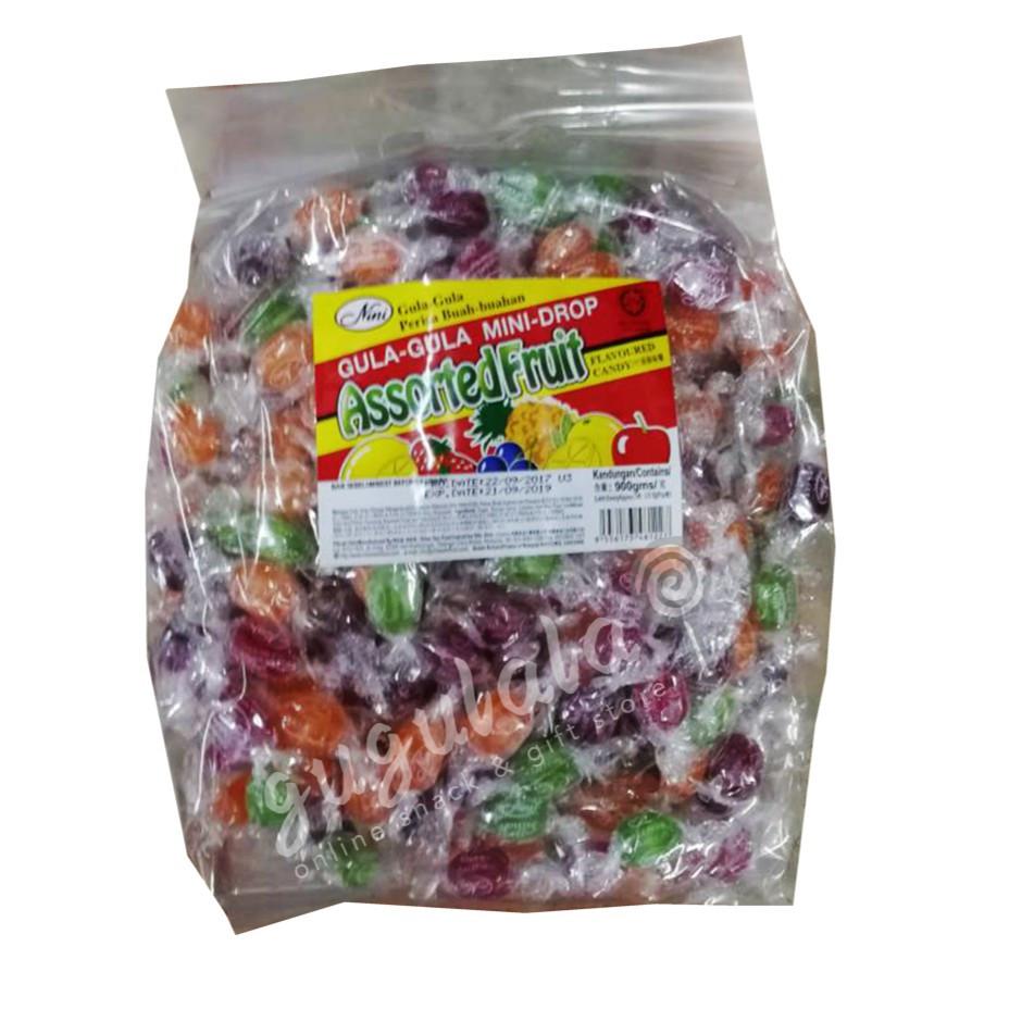 image of Nini Mini-Drop Assorted Fruit Candy 310'S